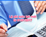 Thuế môn bài được thay thế bằng lệ phí môn bài