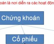Các loại chứng khoán theo quy định của pháp luật Việt Nam.