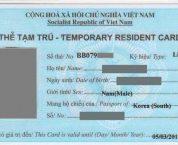 Thủ tục cấp thẻ tạm trú cho người nước ngoài từ 01/7/2020