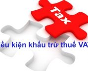 Khấu trừ thuế giá trị gia tăng theo quy định của pháp luật